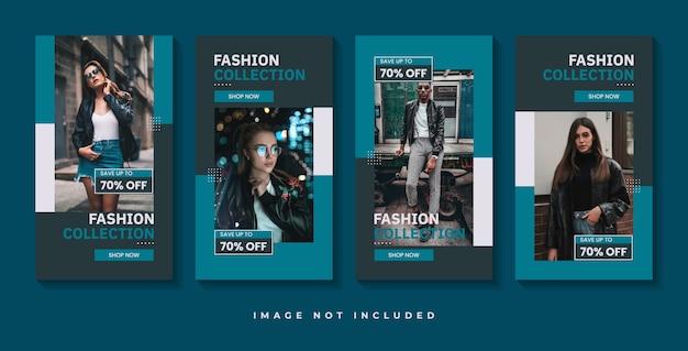 ファッション販売ソーシャルメディアストーリーテンプレート Premiumベクター