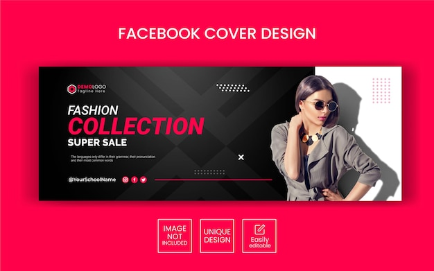Fashion sale social media web banner flyer and facebook cover photo