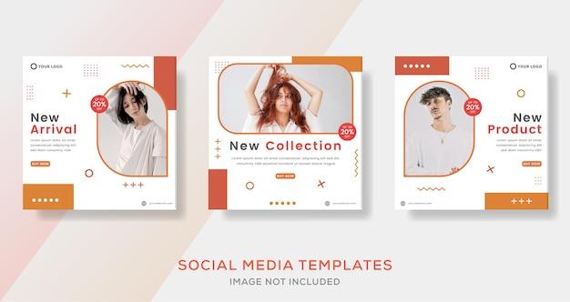 Публикация шаблона баннера магазина модной одежды для социальных сетей.