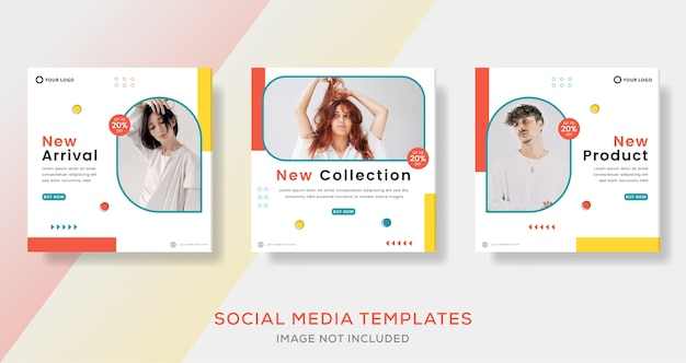 Fashion sale store banner template post for social media.