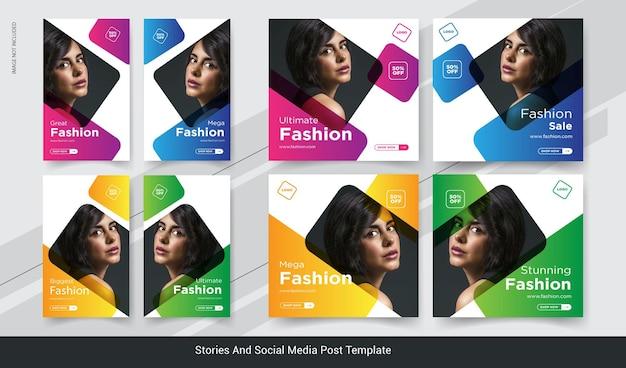 Fashion sale stories social media banner
