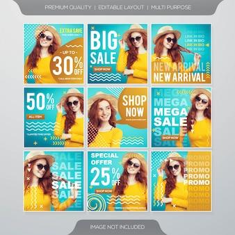 Fashion sale template banner
