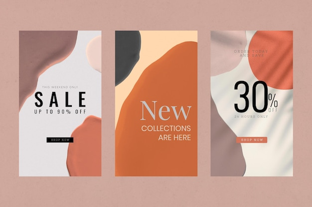 Fashion sale template collection vector