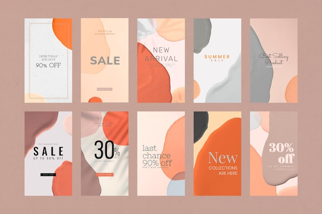 Fashion sale template collection