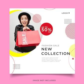 Fashion sale template social media post