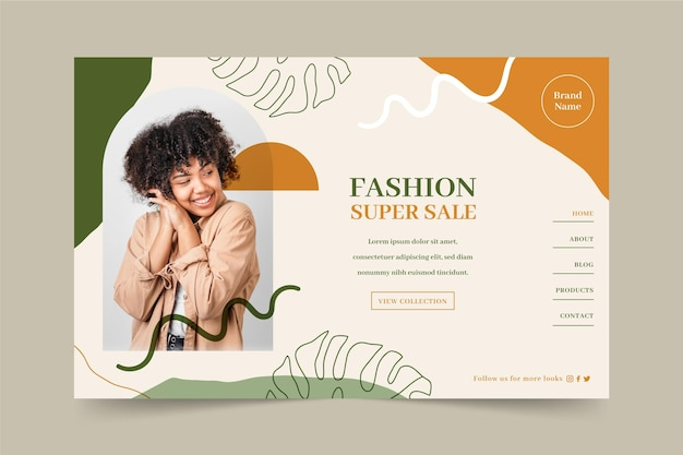 Fashion sale webtemplate theme