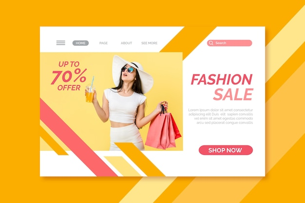 Fashion sale webtemplate