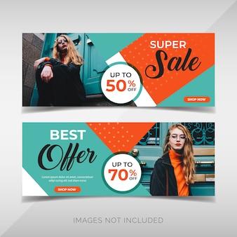 Коллекция баннеров fashion sale
