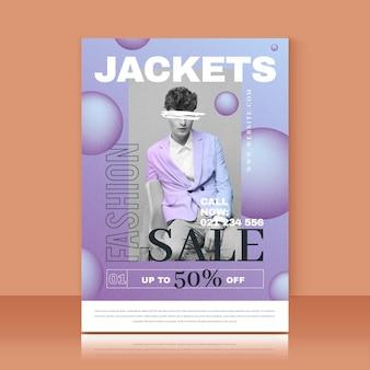 Modello di stampa delle vendite di moda