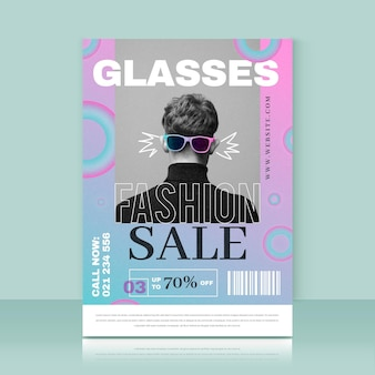 Fashion sales print template