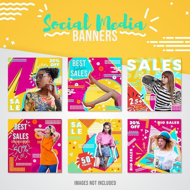 Fashion sales social media banner for instagram