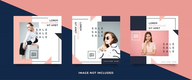 Fashion sales social media post collection