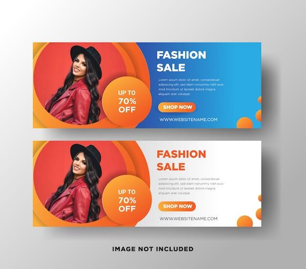 Fashion sales web banner template