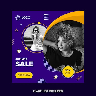 Fashion sell banner template
