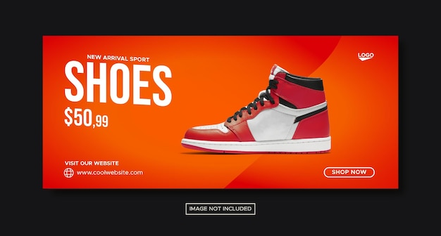 Fashion shoes promotion sale social media banner and facebook post design
