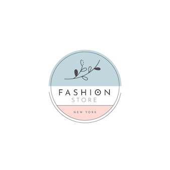 Fashion shop logo template