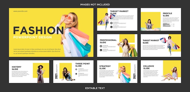 패션 샵 온라인 프레젠테이션 디자인 슬라이드