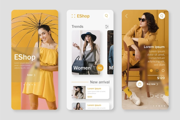 Fashion shopping app template