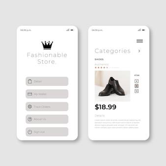 Applicazione per lo shopping di moda