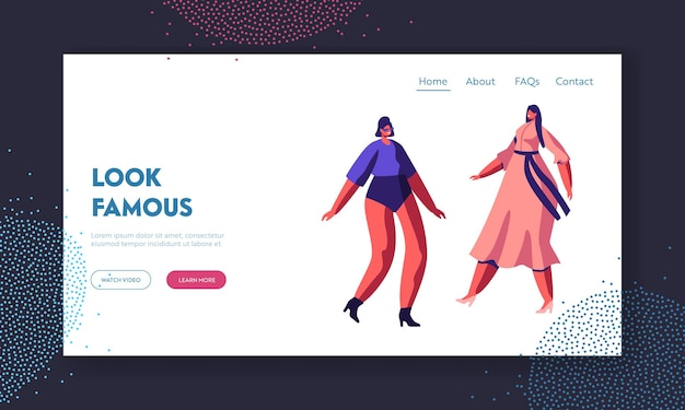 패션쇼 이벤트 웹 사이트 랜딩 페이지.