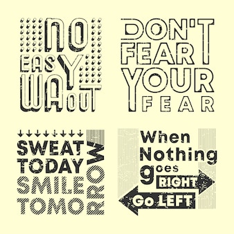 Fashion slogan t-shirt print stamp set