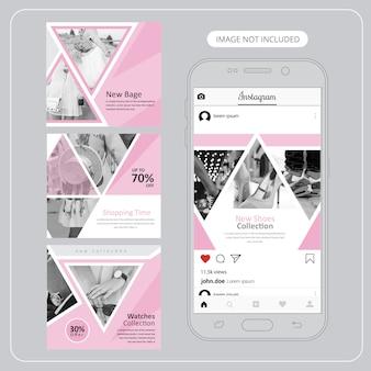 Fashion social media banners for digital marketing