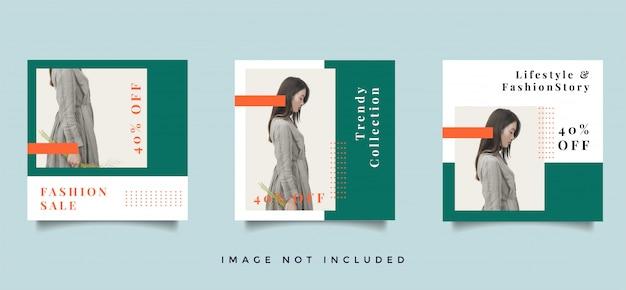 Fashion social media feed пост коллекция продвижение дизайна