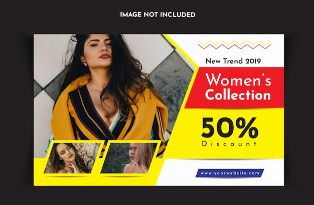 Fashion social media post or banner template
