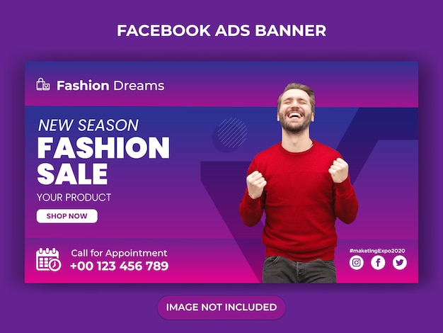 Fashion social media post or instagram post or flyer design