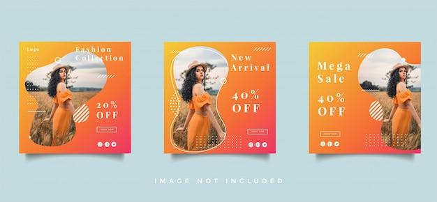 Fashion social media post promotion