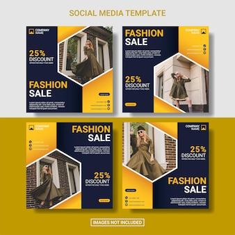 Fashion social media post template