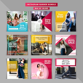 Fashion social media post template
