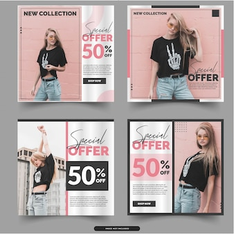 Fashion social media post templates
