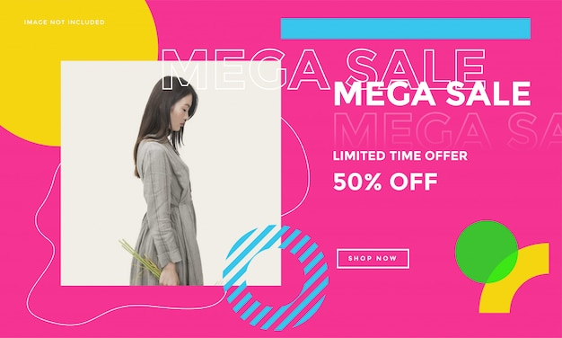 Fashion social media promotion banner
