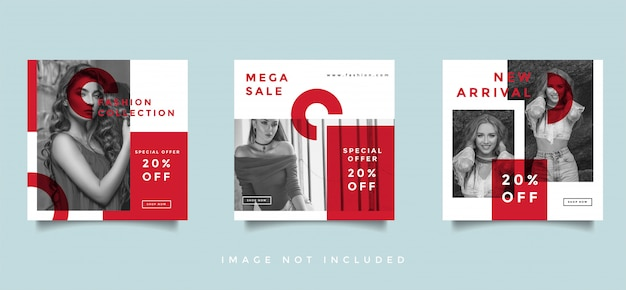 Fashion social media promotion design layout