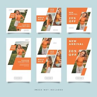 Fashion social media promotion layout