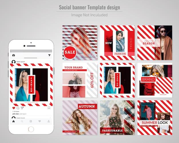 엽서 템플릿-패션 소셜 미디어 판매 배너
