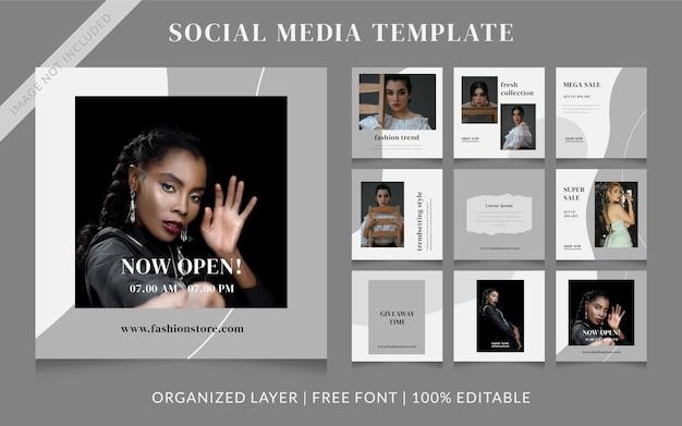 포스트 템플릿-패션 소셜 미디어