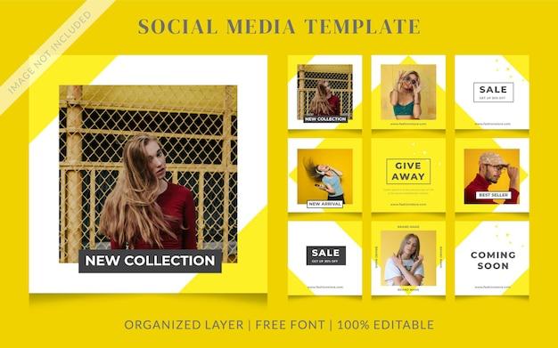 Шаблон сообщения о продаже моды в социальных сетях