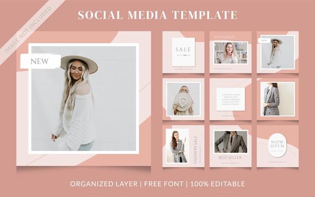 Fashion social media sale post template