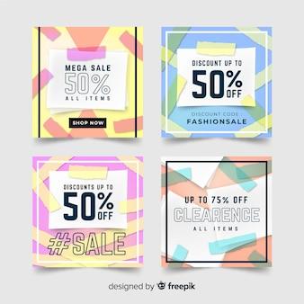 Fashion social media sales banners