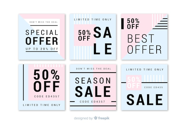 Fashion social media sales banners