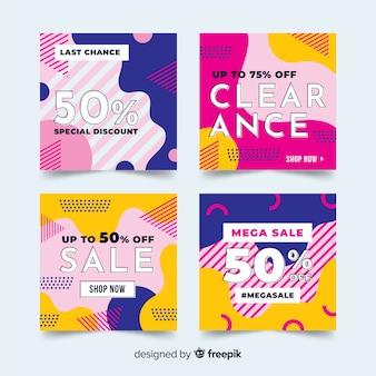 패션 소셜 미디어 판매 배너