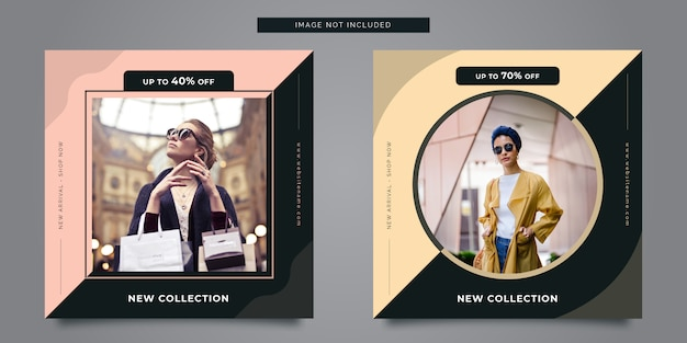 Fashion square banner template for instagram