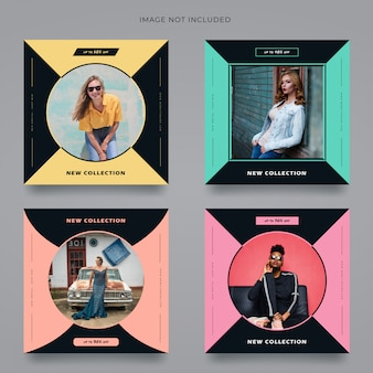 Fashion square banner template instagram