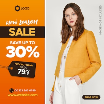 Fashion square sale banner for instagram post