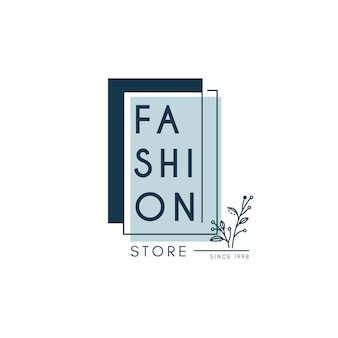 Fashion store logo template