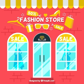 Fashion store sales background