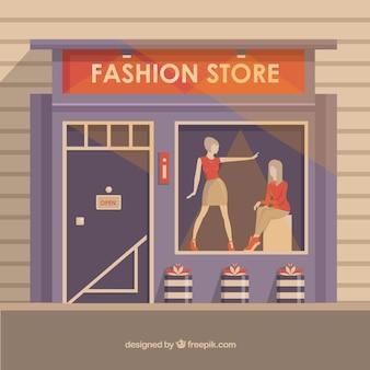 Negozio di moda con una bella vetrina