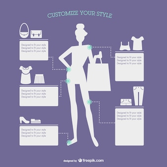 Fashion style infographic